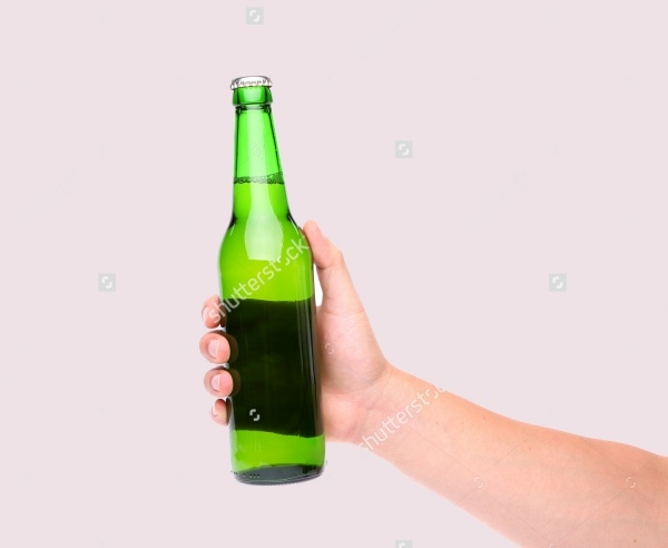illustration Beer Bottle Vector