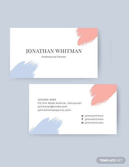 modern painter business card