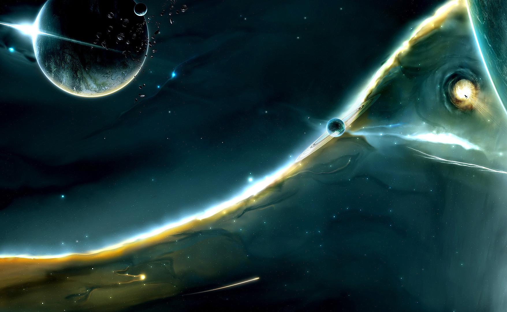 1080p Digital Universe HD Wallpaper