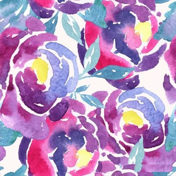 16 Watercolor Patterns