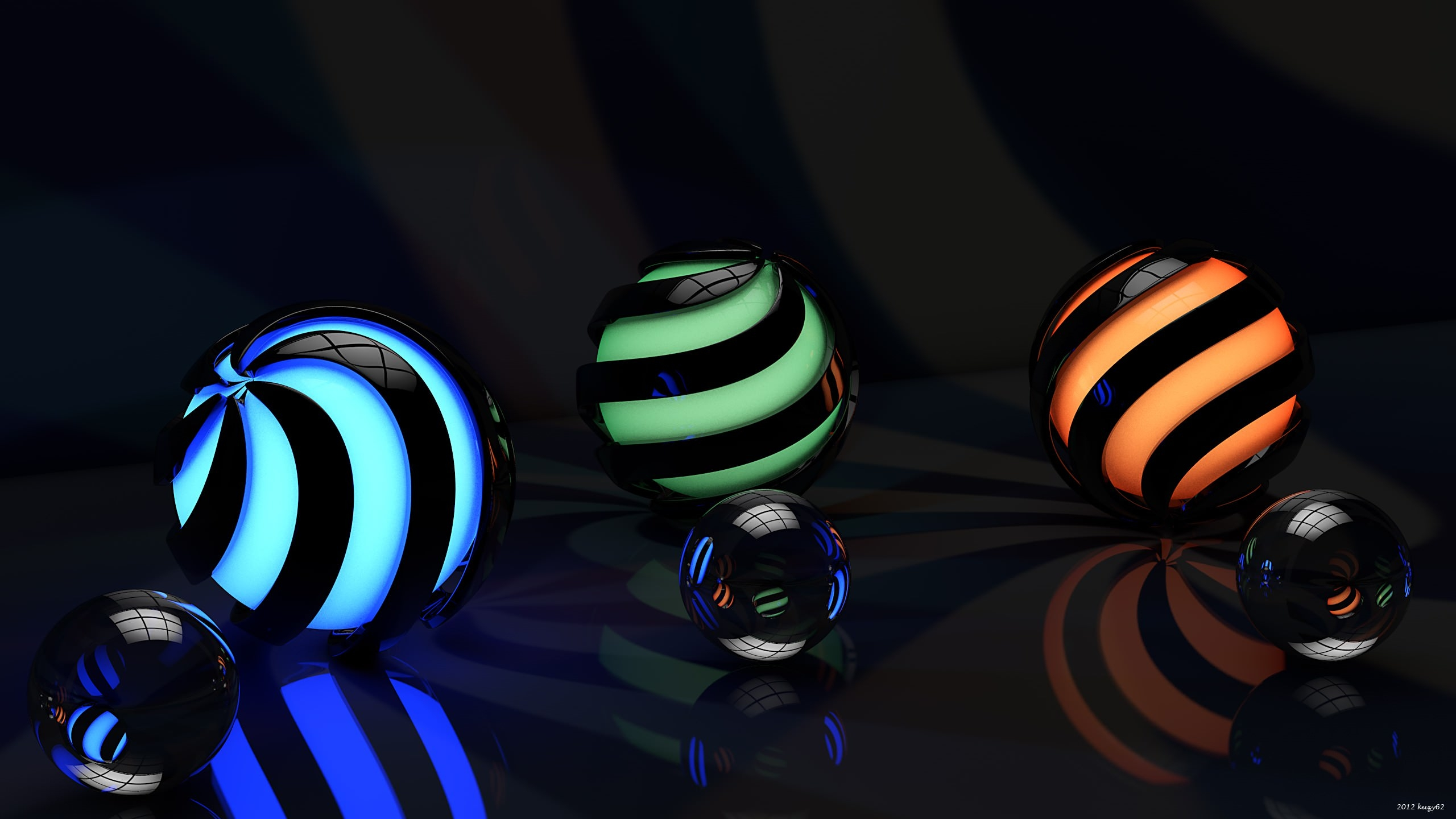 3D Balls Background For Free