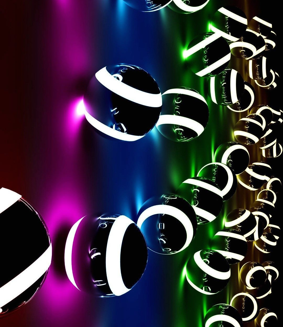 3D Colorful Balls Wallpaper
