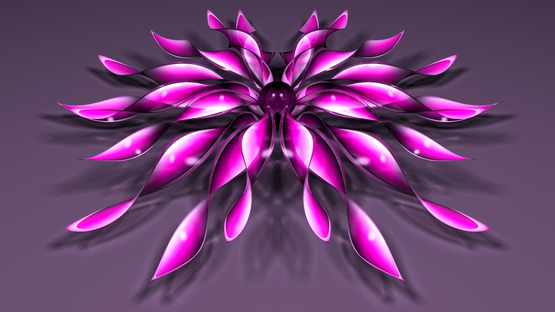 3D Flower Background
