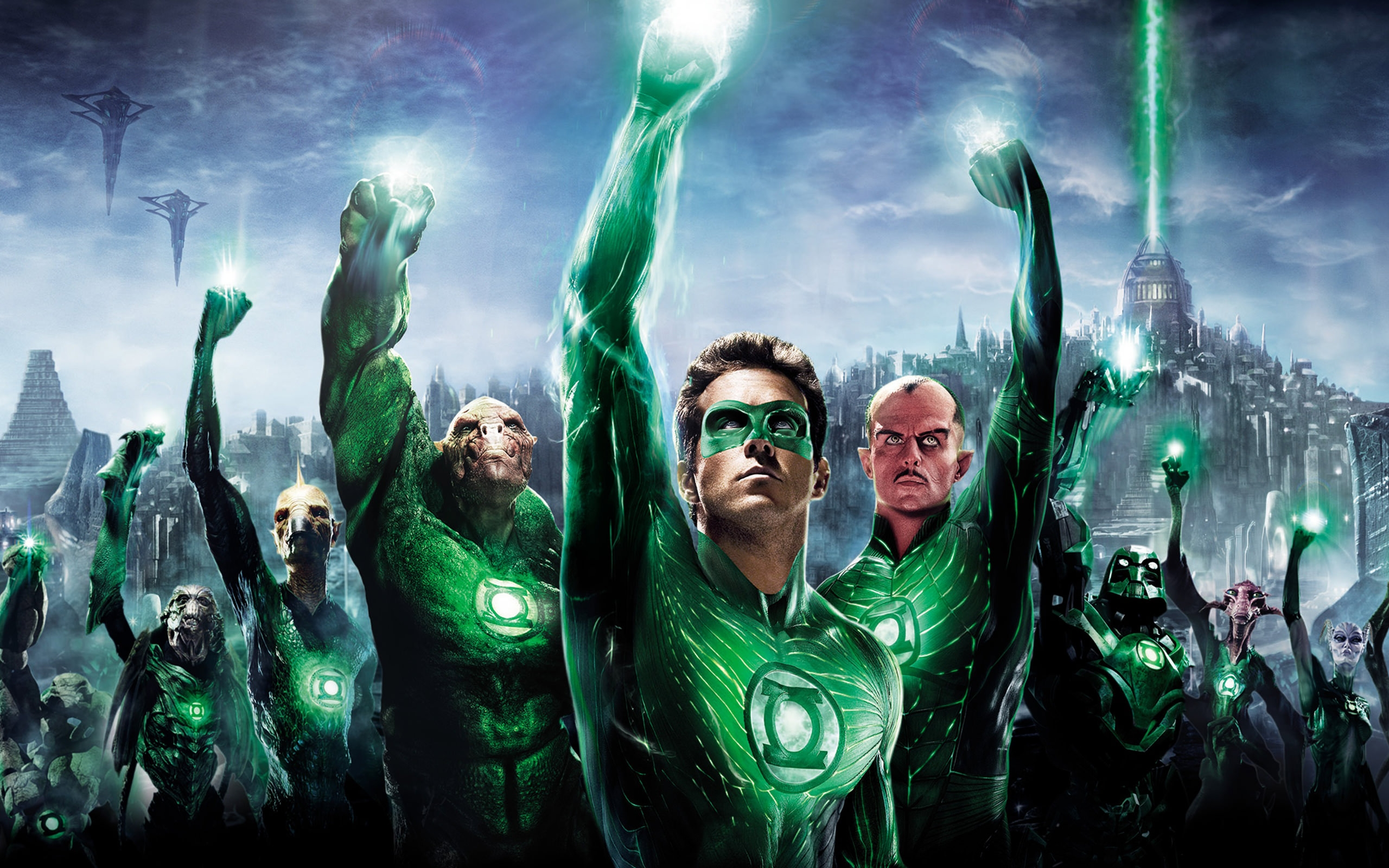 3D Green Lantern Background