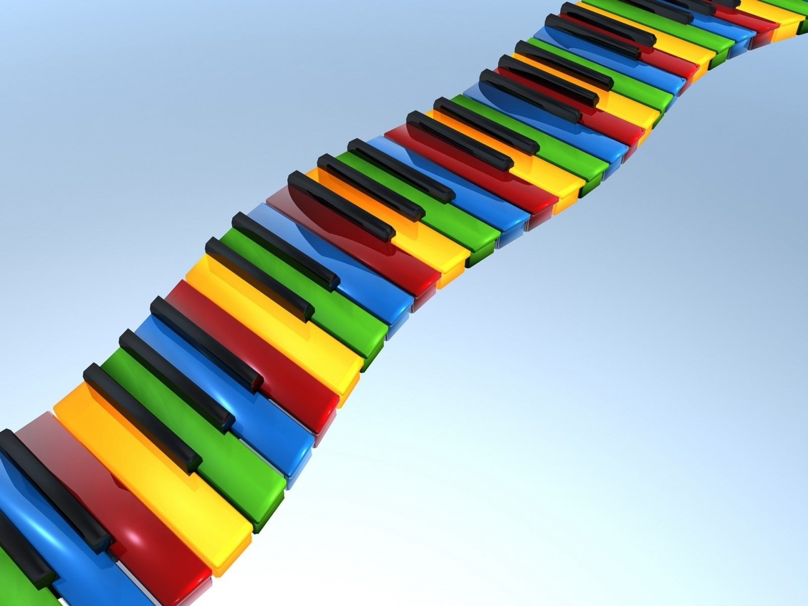 3D Piano Switch Art HD Background