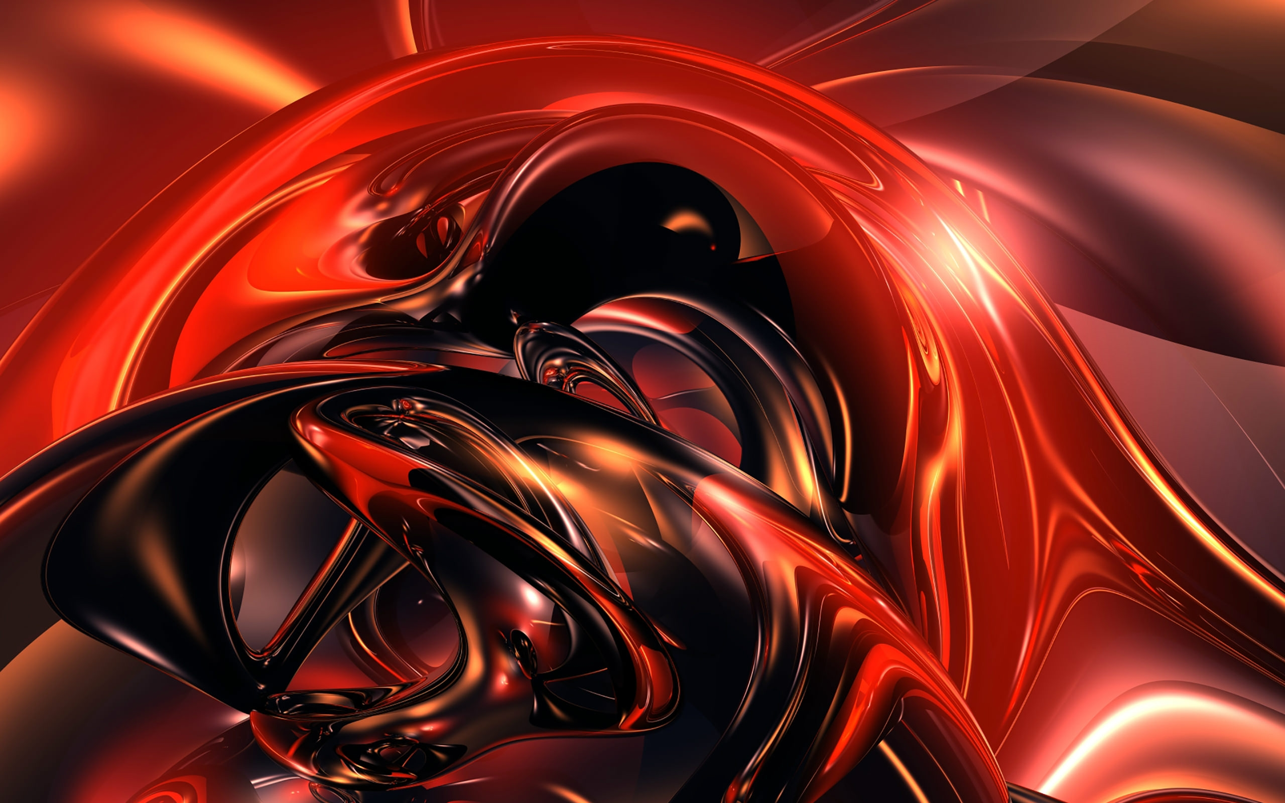3D  Red Abstract HD Wallpaper
