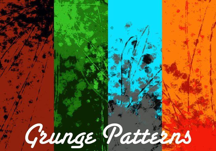 4 Grunge Pattern Pack