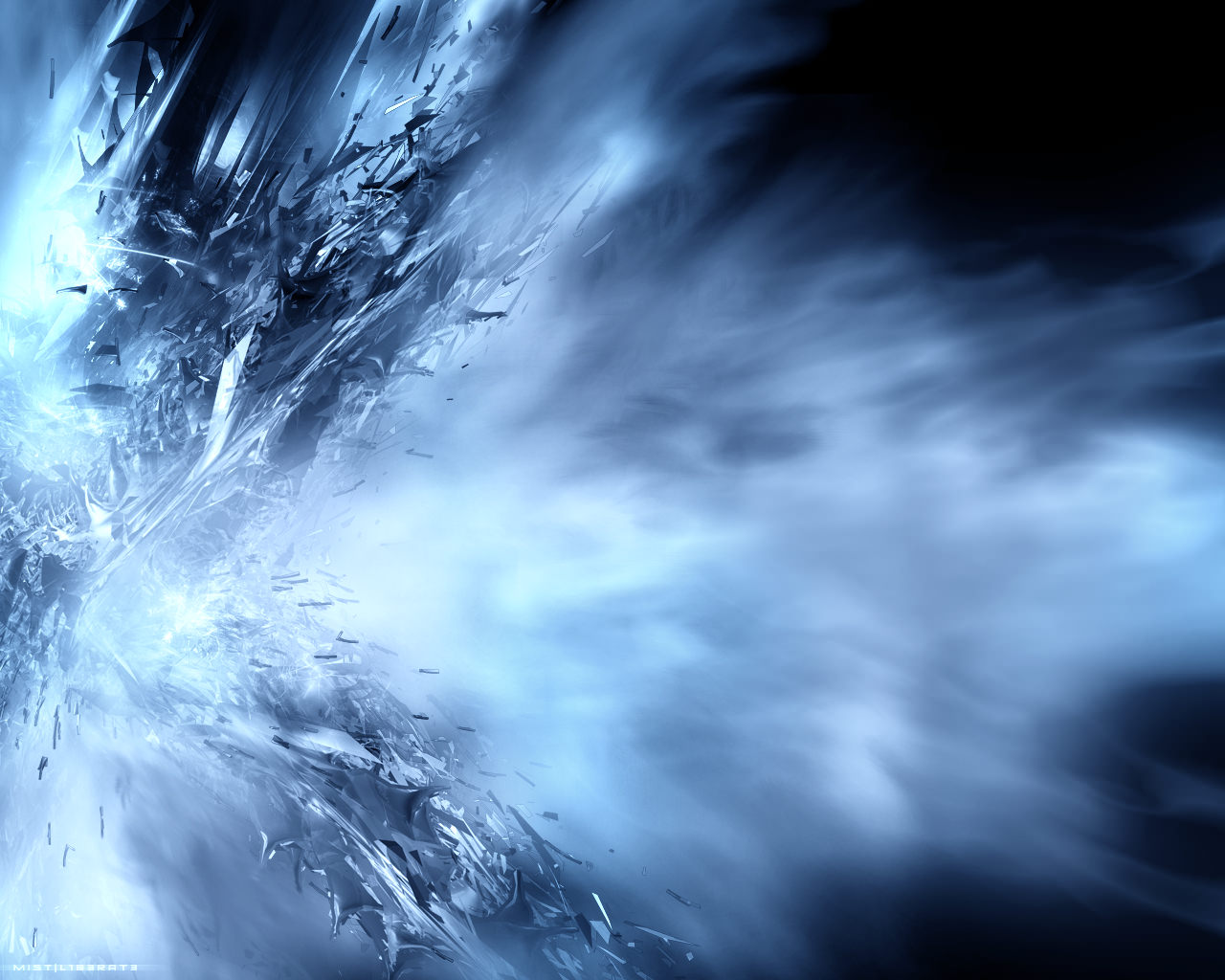 Abstract Blue Artistic Wallpaper