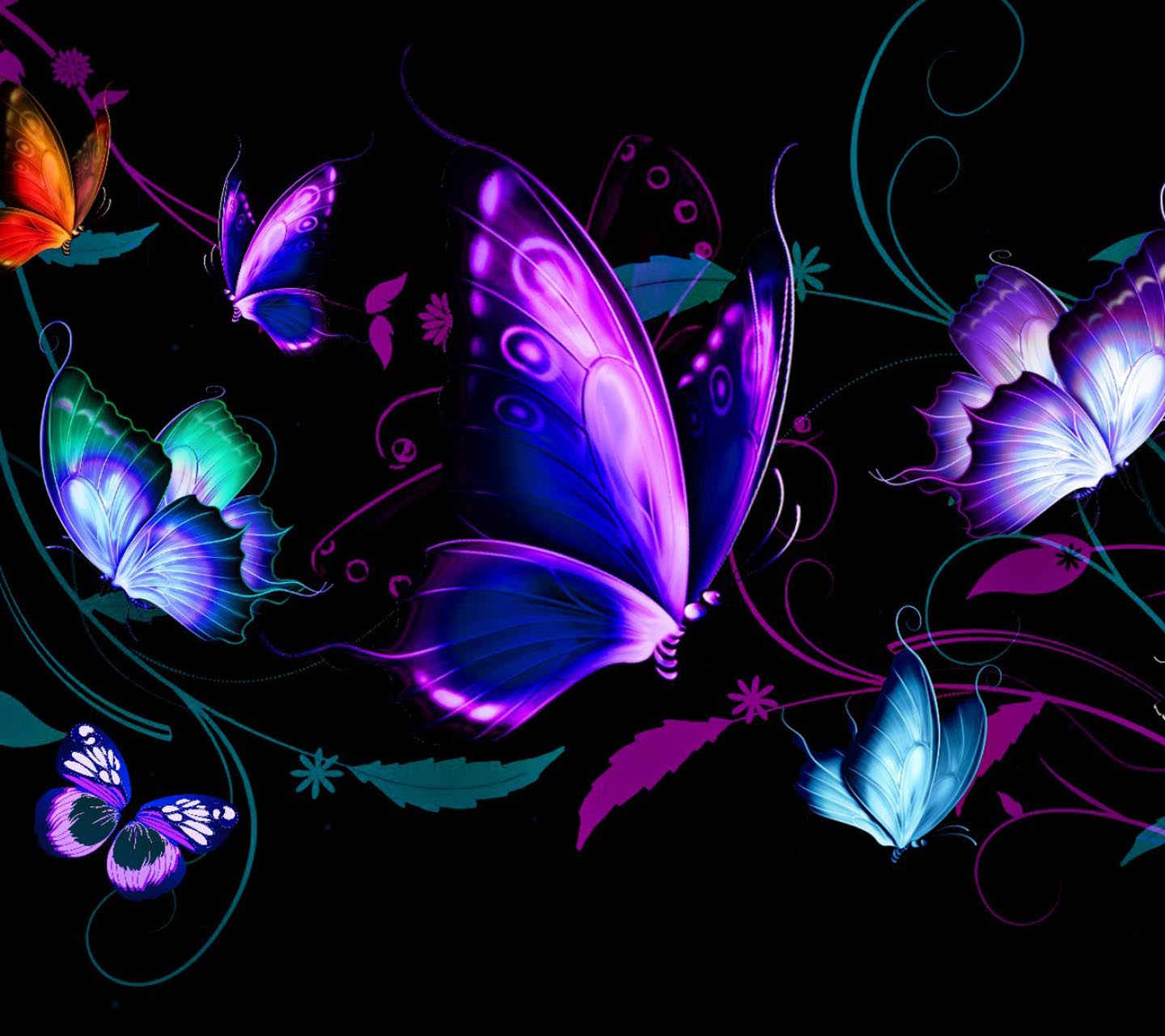 butterfly blue abstract wallpaper - photo #37