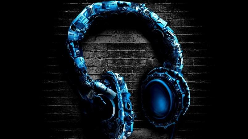 Abstract Digital Headphones Wallpaper