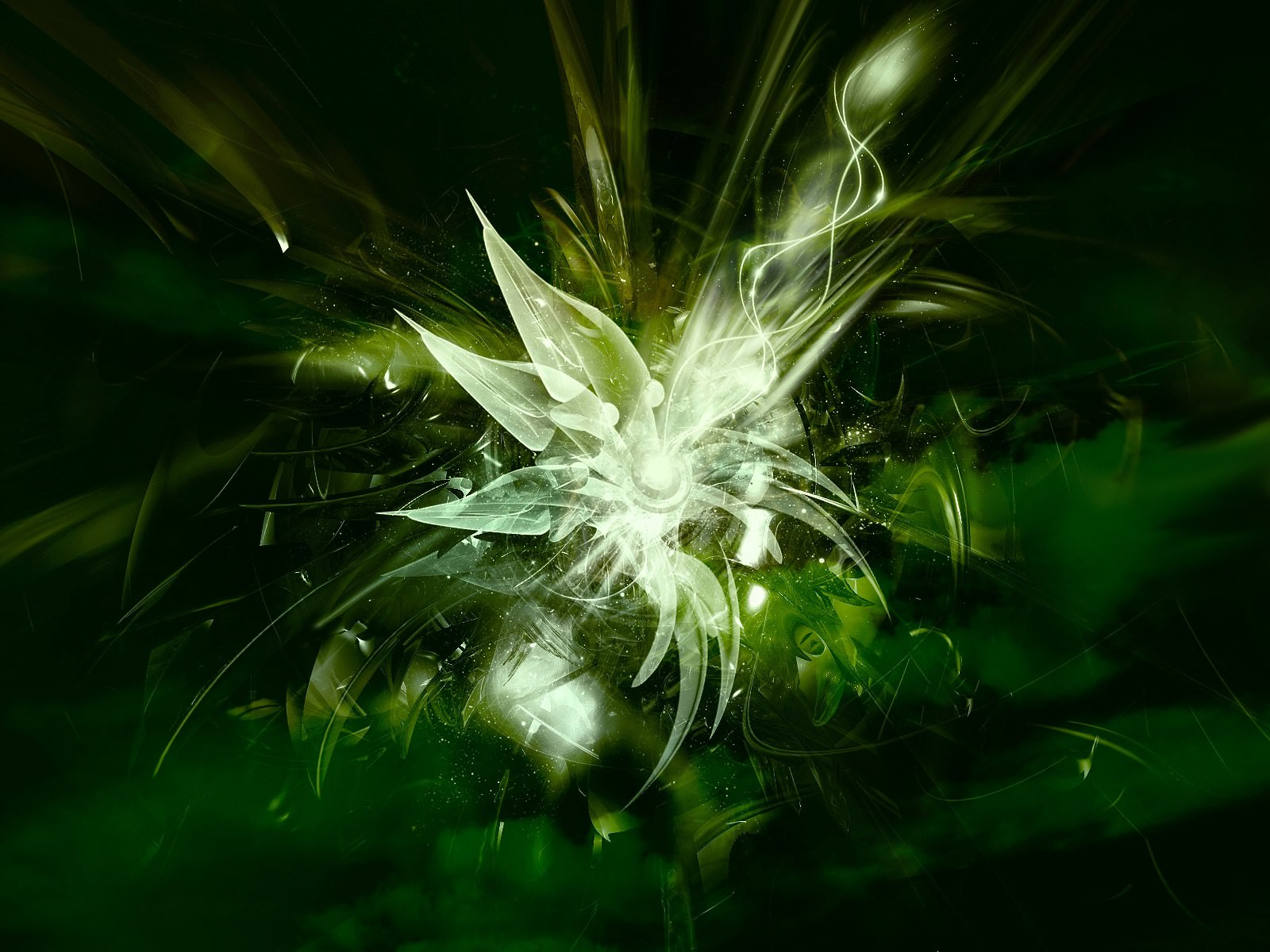 Abstract Green Texture Wallpaper