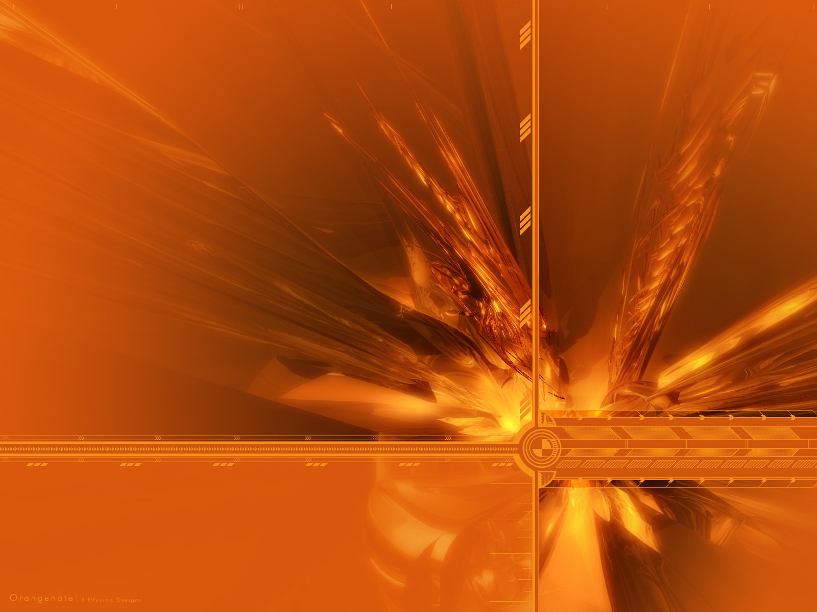 Abstract Orange System Background