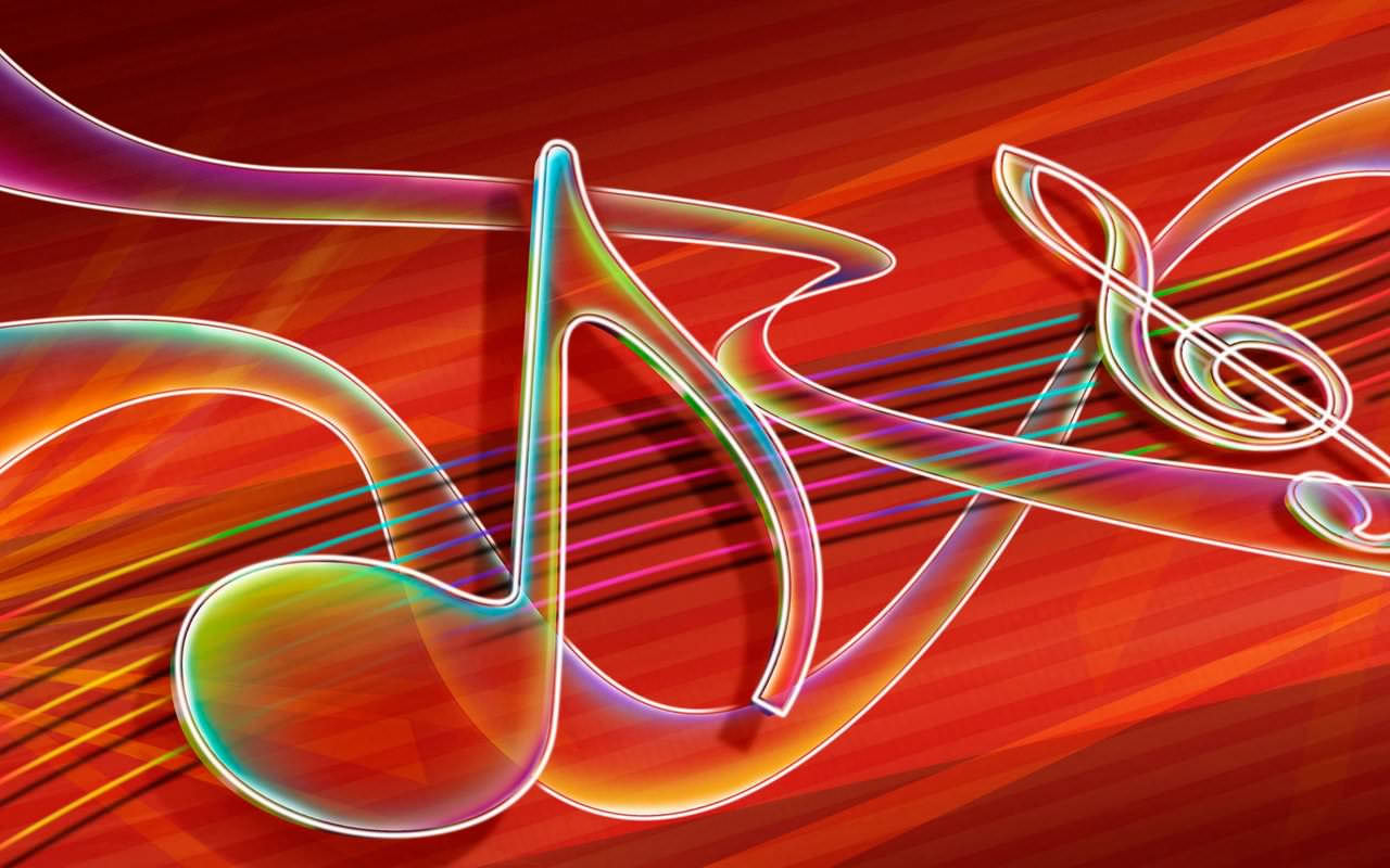 Abstract Red Music Wallpaper