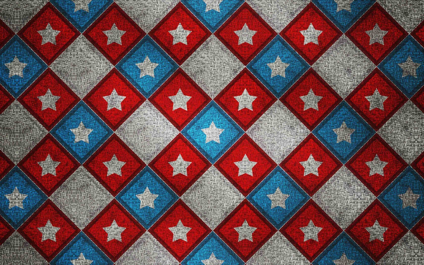 Abstract Square Stars Pattern