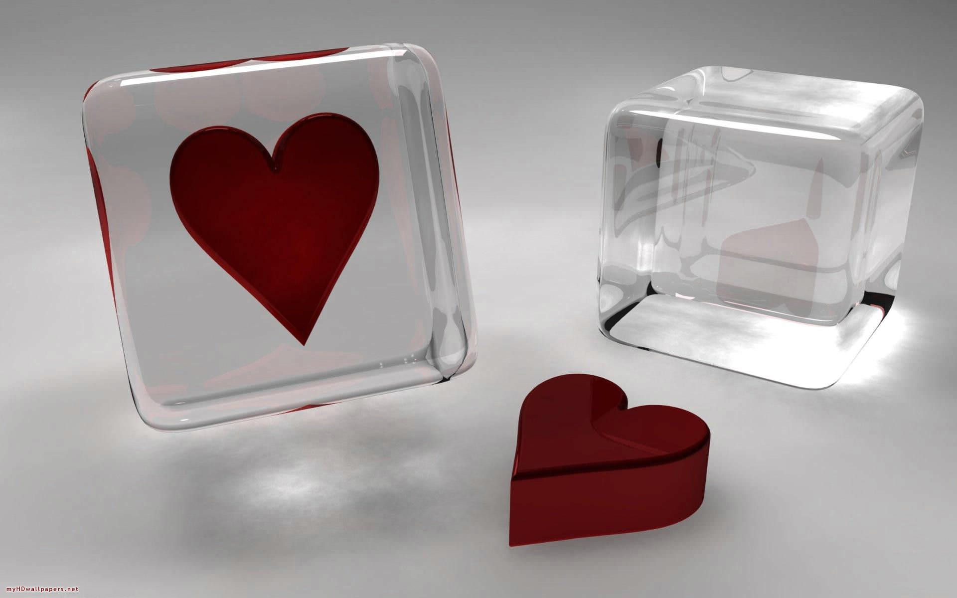 Abstract Transparent In Red & White Glass