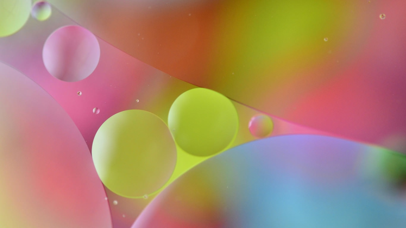 Abstract bubbles Pastel Wallpaper