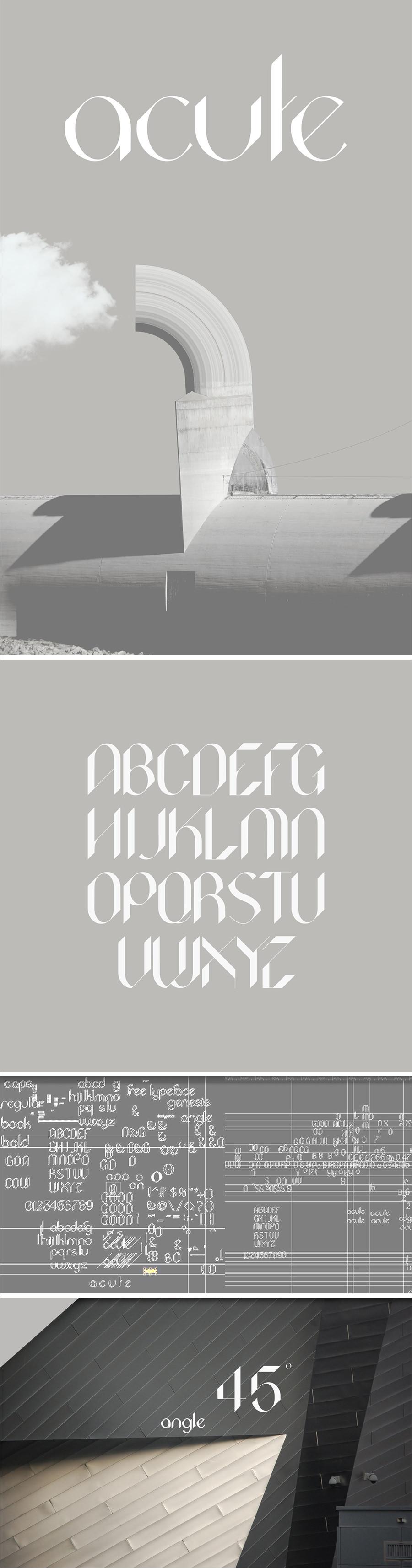 Acute Typeface Font