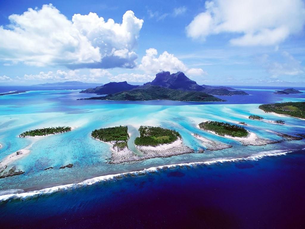 Aerial Ocean Landscape Wallpaper