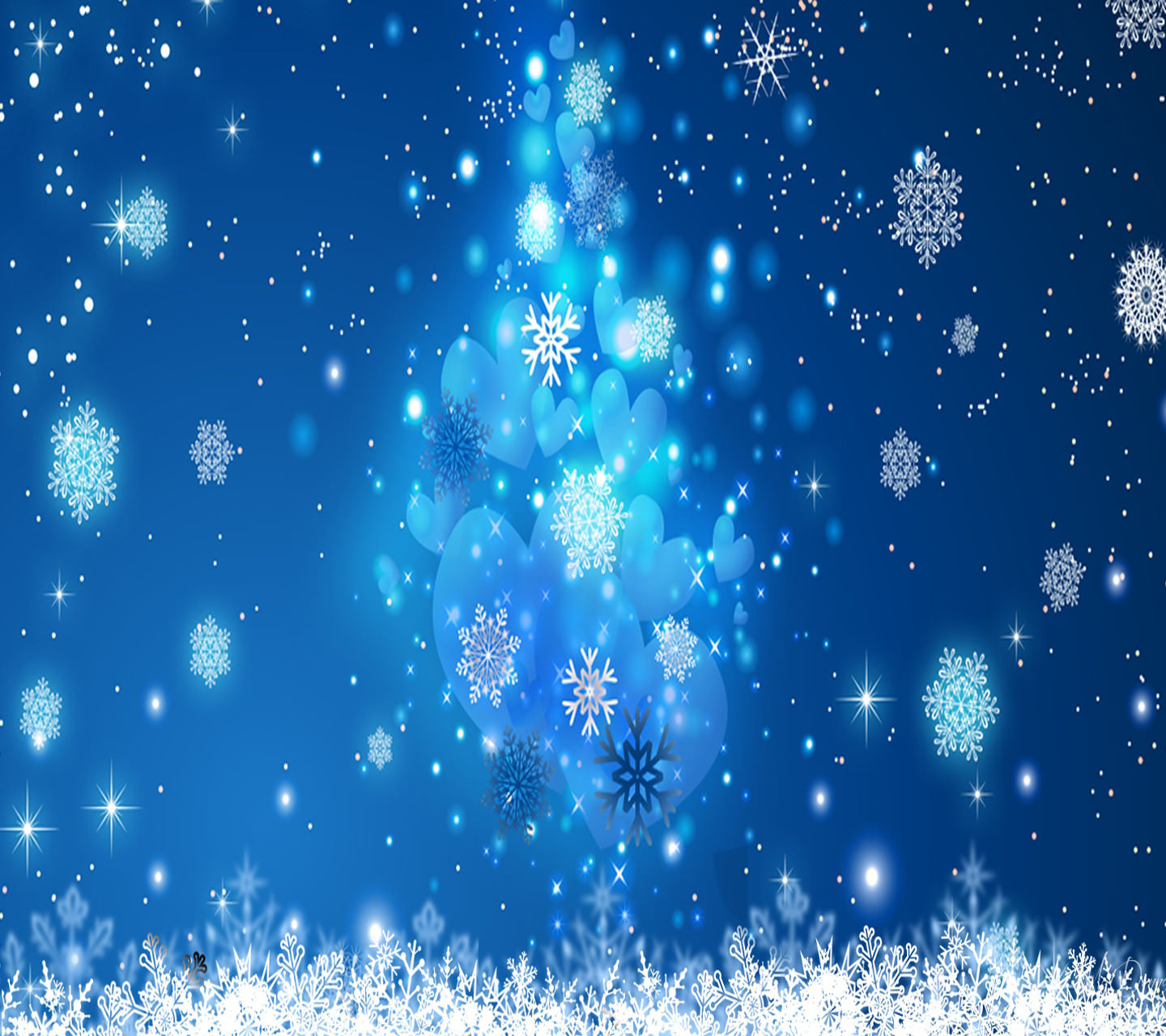 Aesome Cool Snowflakes Wallpaper