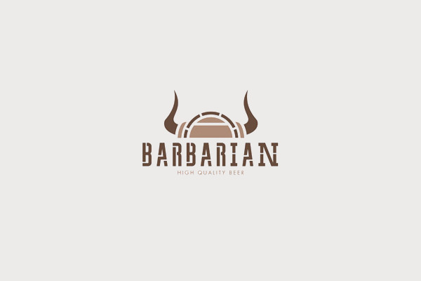 amazing barbarian logo design