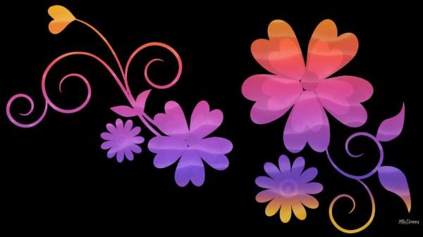 Amazing Flowers Gradient Wallpaper