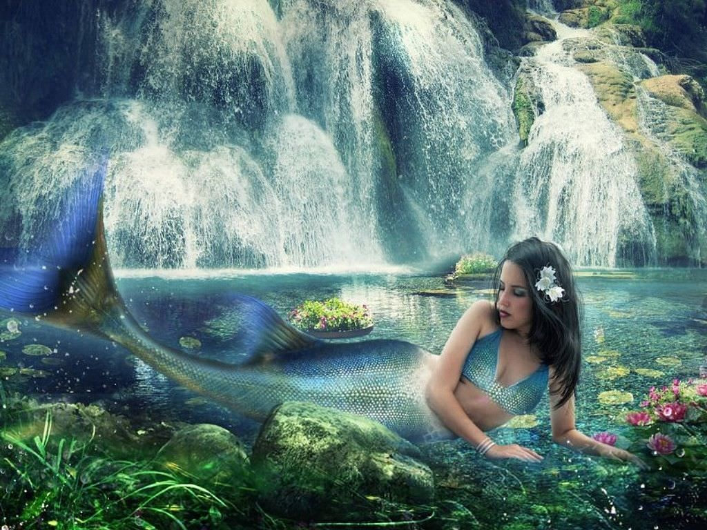 Amazing Mermaid Scenery Background