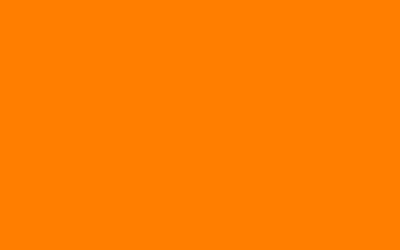 Amber Orange Solid Color Background