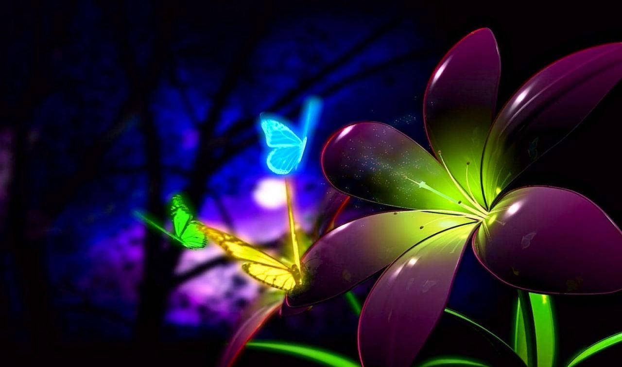 Animated Flower Petals Wallpaper