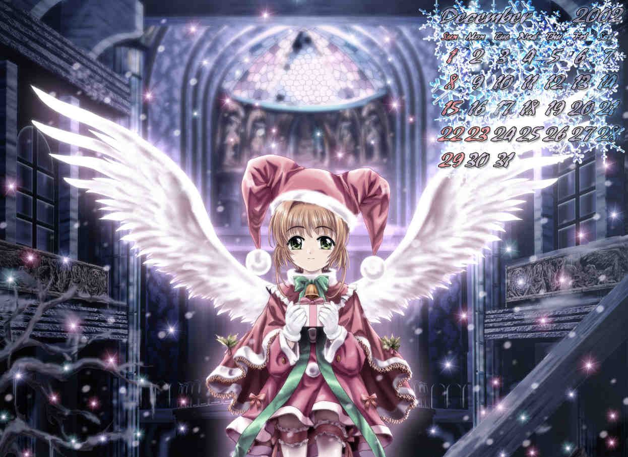 Anime Angel Calendar Wallpaper