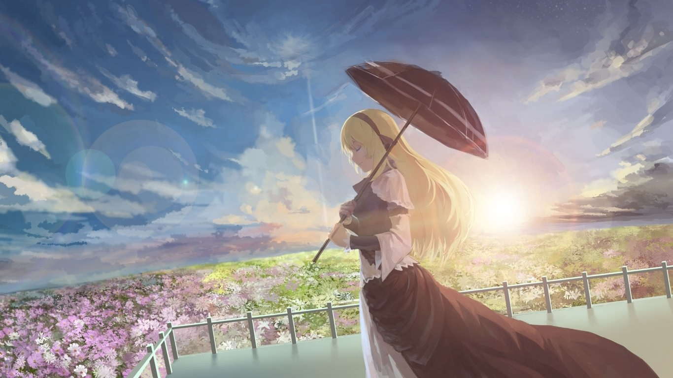 Anime Pretty Sunshine Wallpaper