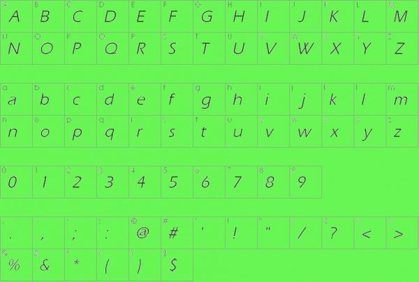 Aquiline Book Italic Font