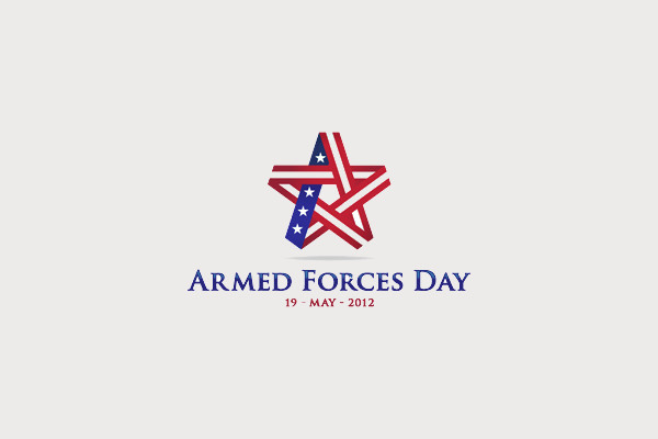 Armed Forces Day Star Logo