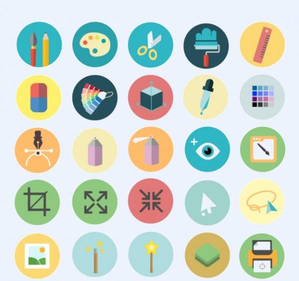 Art Design Icons set