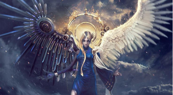 Artistic Fiction Angel Wallpaper