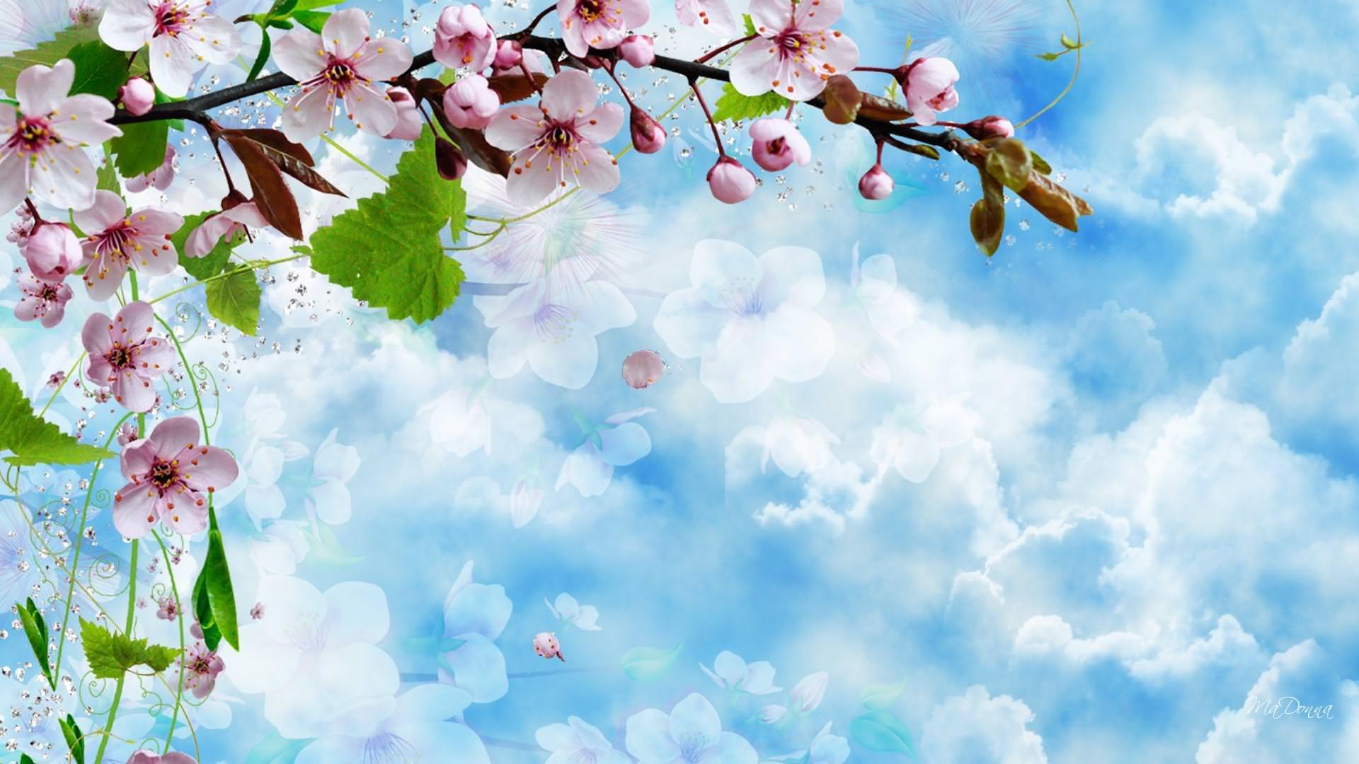 Artistic Spring Blossom Background