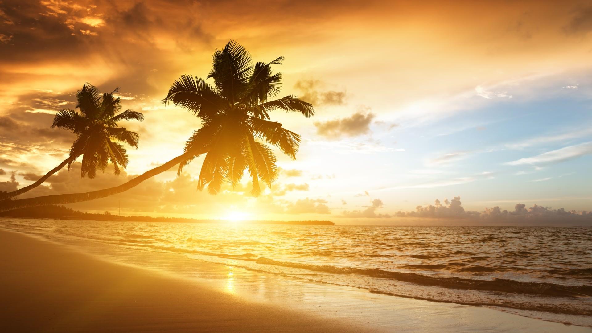 Astonishing Sunrise in Beach Wallpaper