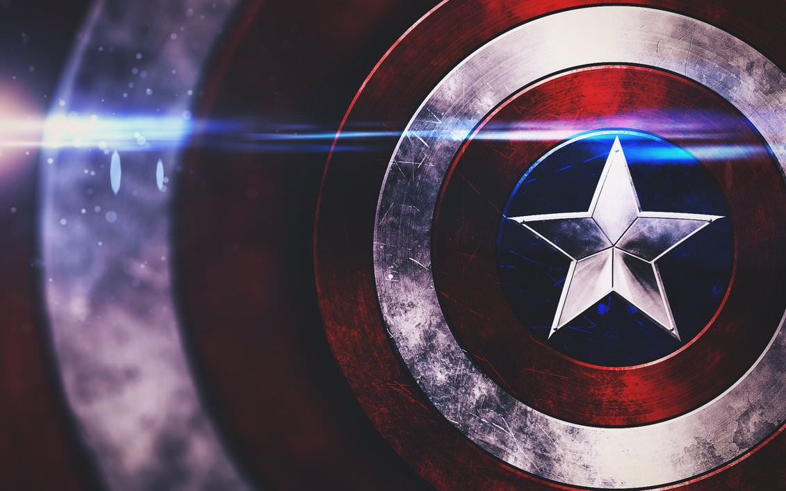 Awesome Captain America Shield Wallpaper