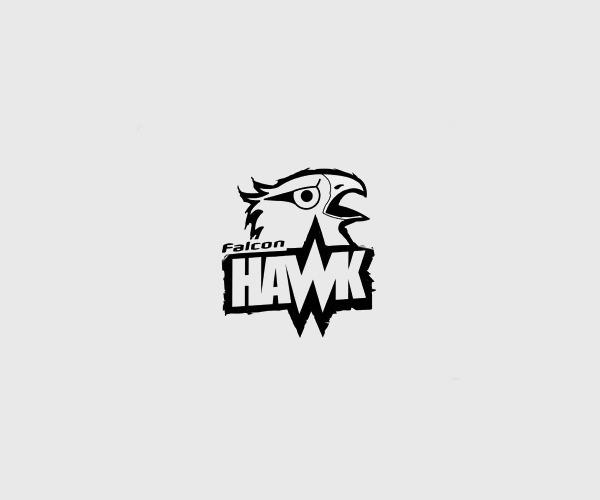Awesome Falcon Hawk Logo