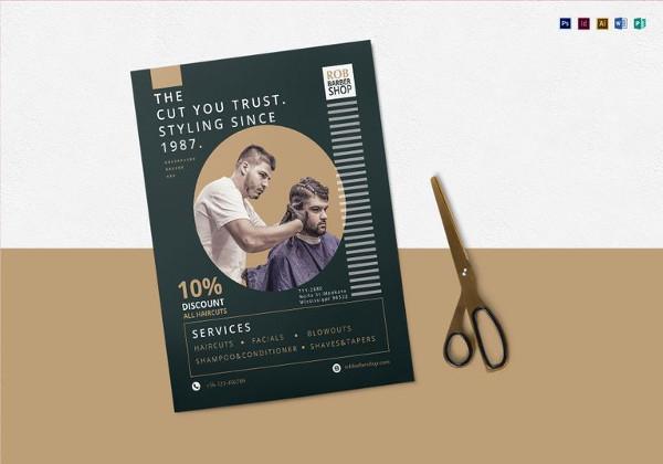 Barbershop Flyer Template in Indesign