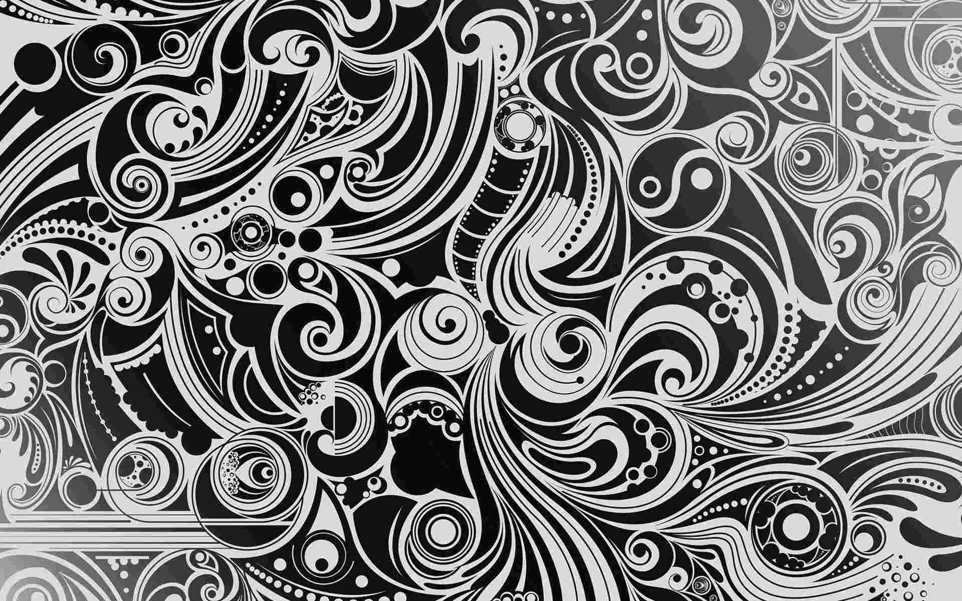 Beautiful Abstract Monochrome Pattern