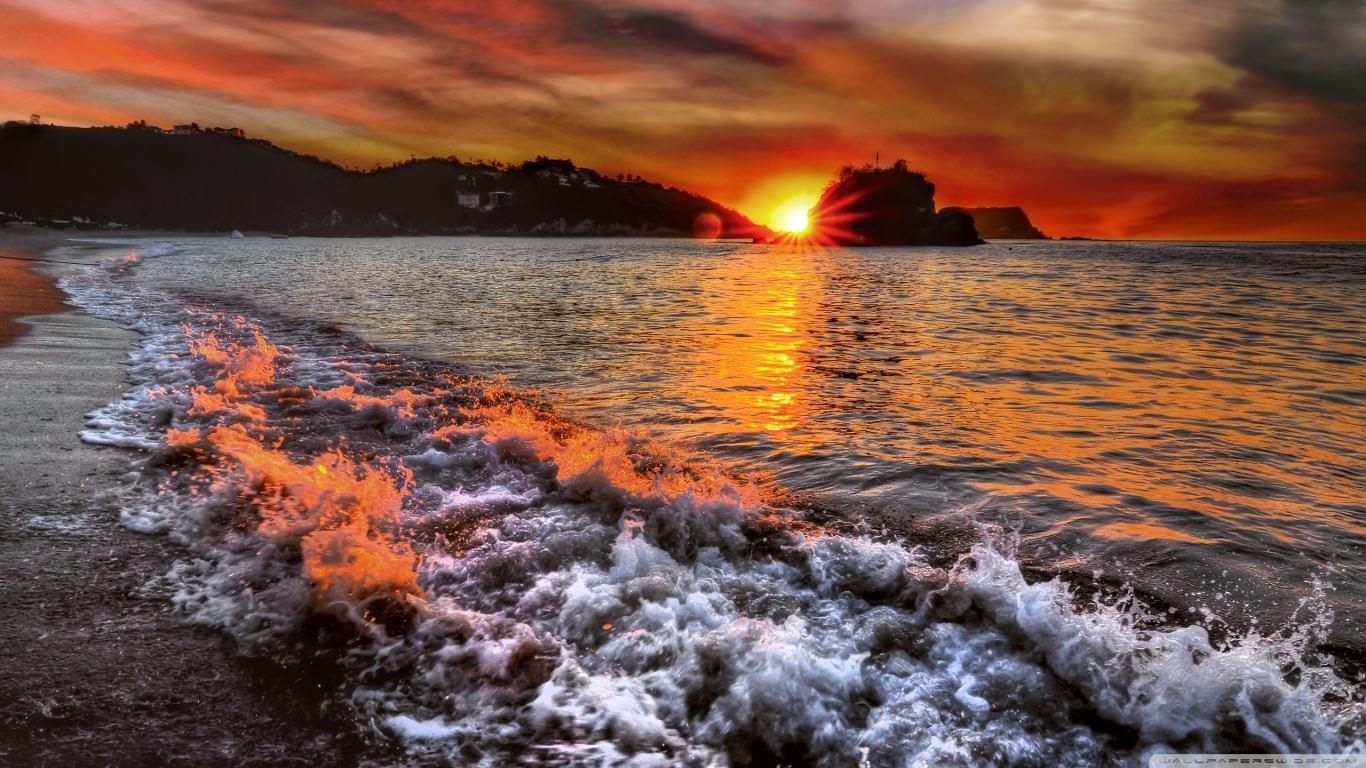 Beautiful Beach Sunrise Wallpaper