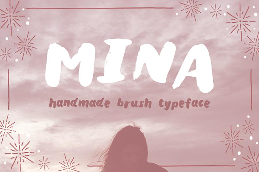 beautiful mina font2