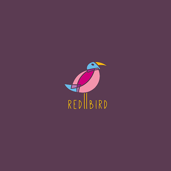 Beautiful Red Bird Logo