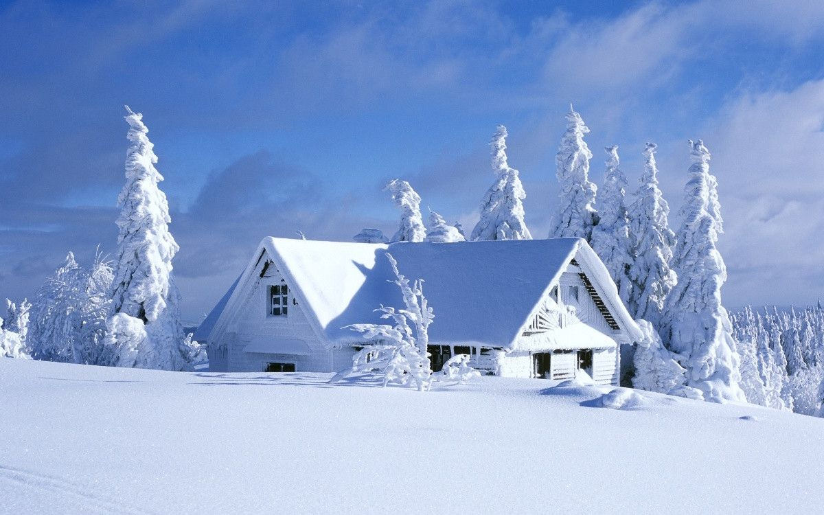 Beautiful Snow House Wallpaper