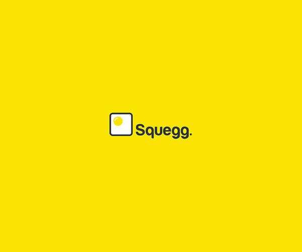 Beautiful Square Egg Logo