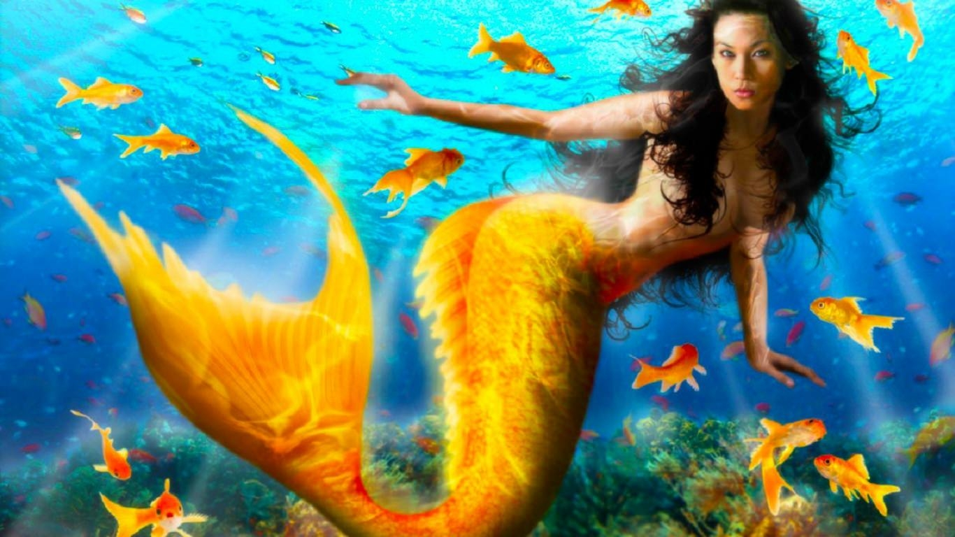 Beautiful Yellow Mermaid Wallpapers