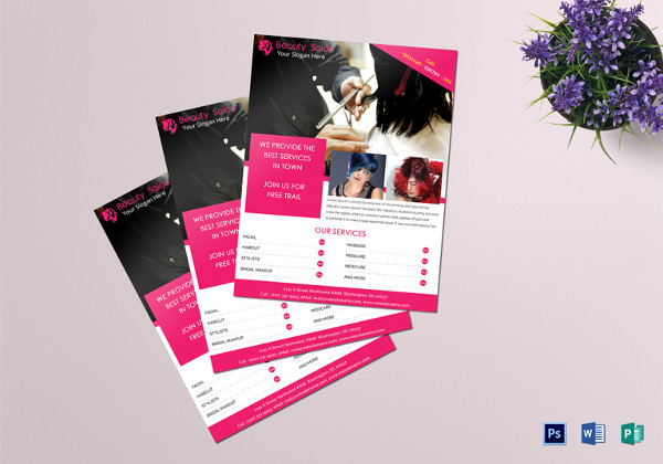 beauty salon flyer template to edit