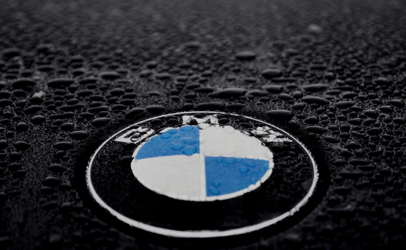 Black Abstract BMW Logo Wallpaper