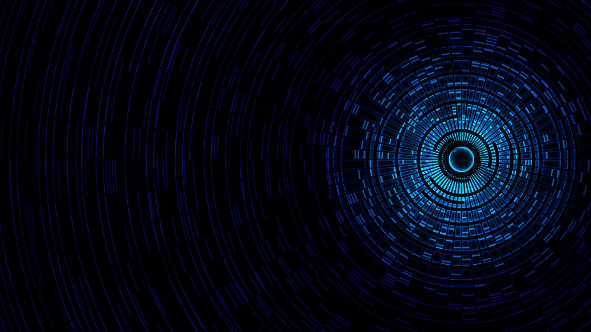 Black & Blue Abstract Passage Light Wallpaper