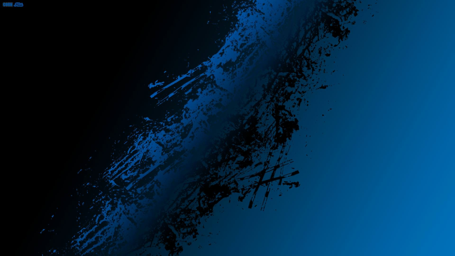 Black & Blue Abstract Wallpaper